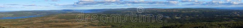 Vista panorâmica da montanha sueco Ansaett fotos de stock royalty free