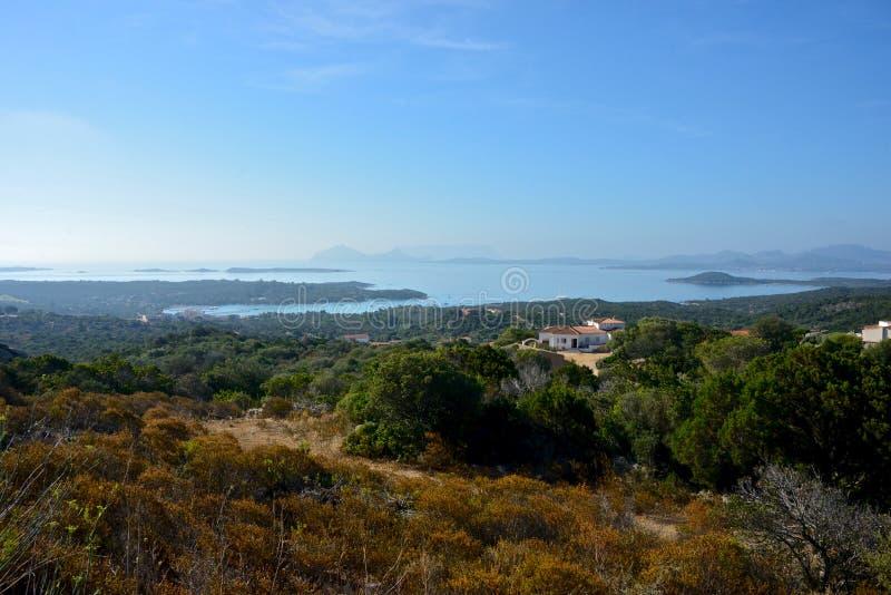 vista panorâmica da paisagem de Sardinia imagens de stock royalty free