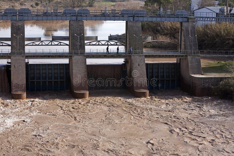 Vista panorâmica da represa em Mengibar imagem de stock royalty free