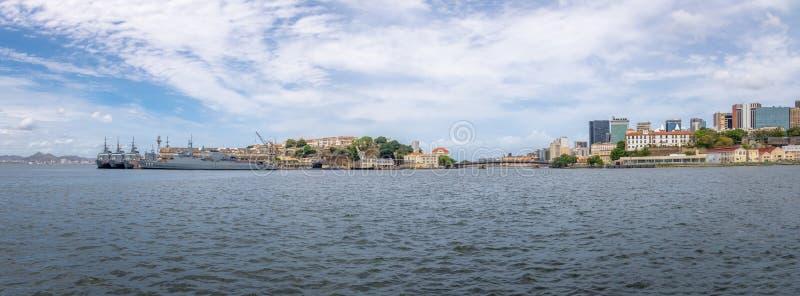 Vista panorâmica da skyline de Rio de janeiro e da margem do centro - Rio de janeiro, Brasil fotos de stock