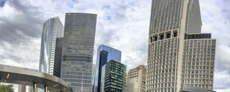 Vista panorâmica da skyline do Lower Manhattan, New York City fotos de stock royalty free