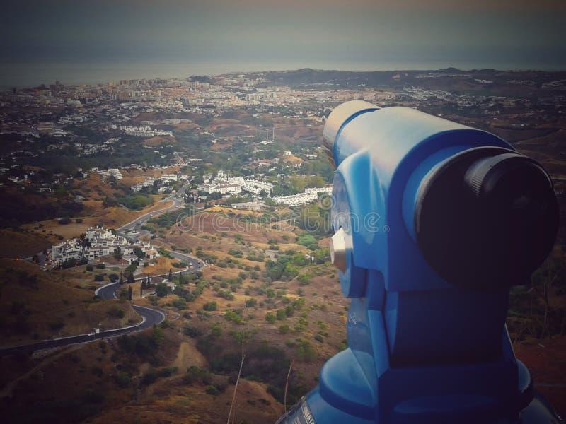 Vista panorâmica da vila de Mijas imagens de stock