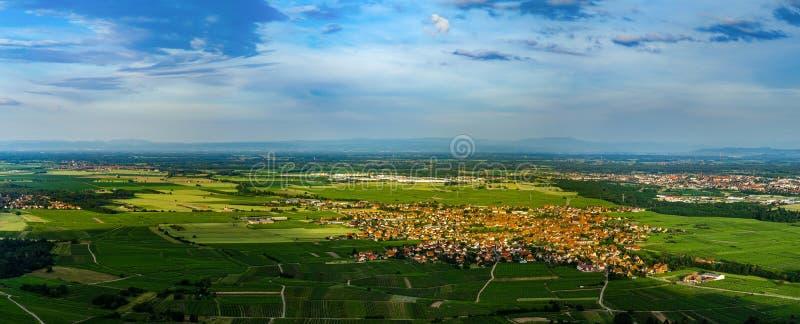 Vista panorâmica de alta resolução aérea larga do por do sol sobre a GR imagem de stock