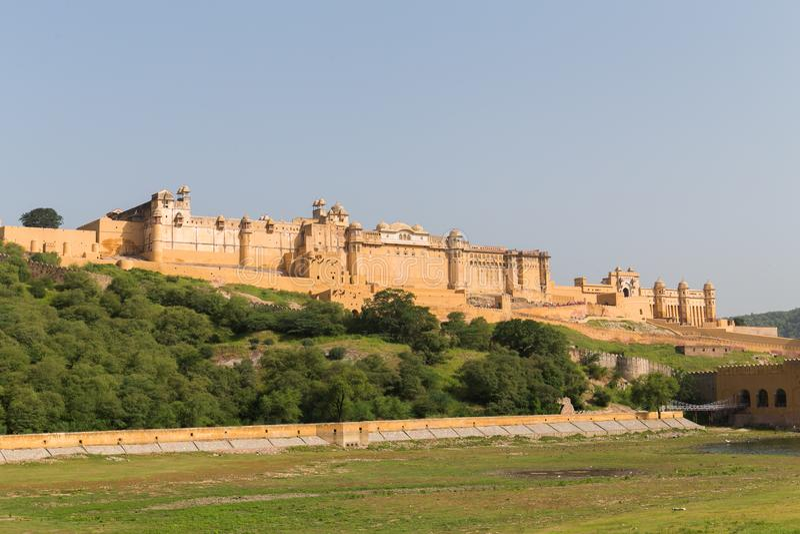 Vista panorâmica de Amber City em Jaipur imagem de stock royalty free