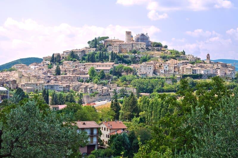 Vista panorâmica de Amelia. Úmbria. Itália. imagem de stock