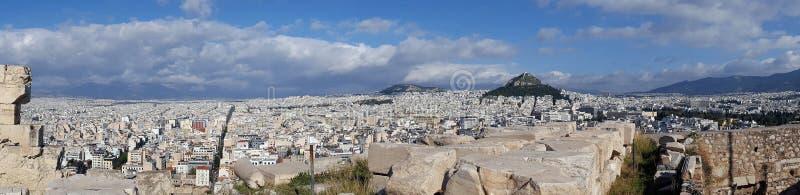 Vista panorâmica de Atenas da acrópole imagem de stock