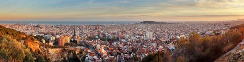 Vista panorâmica de Barcelona, Espanha fotografia de stock royalty free