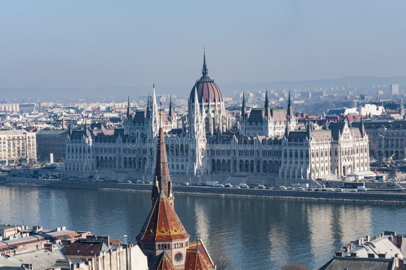 Vista panorâmica de Budapest do centro fotografia de stock