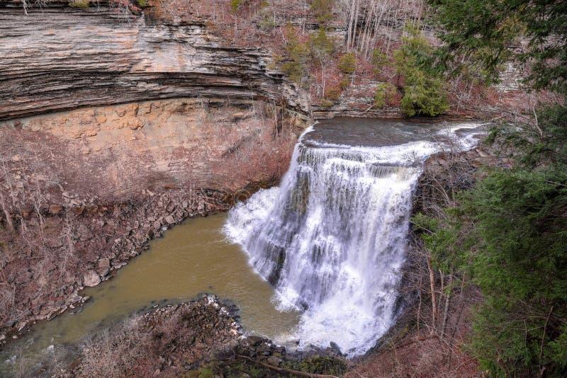 Vista panorâmica de Burgess Falls, Tennessee imagem de stock