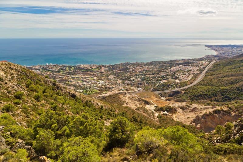 Vista panorâmica de Costa del Sol fotos de stock royalty free
