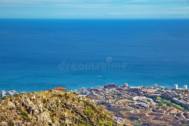 Vista panorâmica de Costa del Sol imagem de stock royalty free