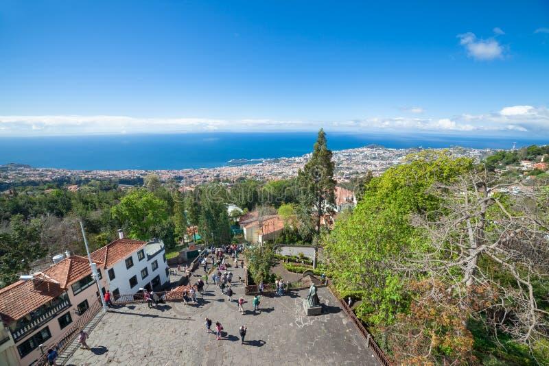 Vista panorâmica de Funchal do Monte (nossa senhora da montanha) Madeira, Portugal imagem de stock royalty free
