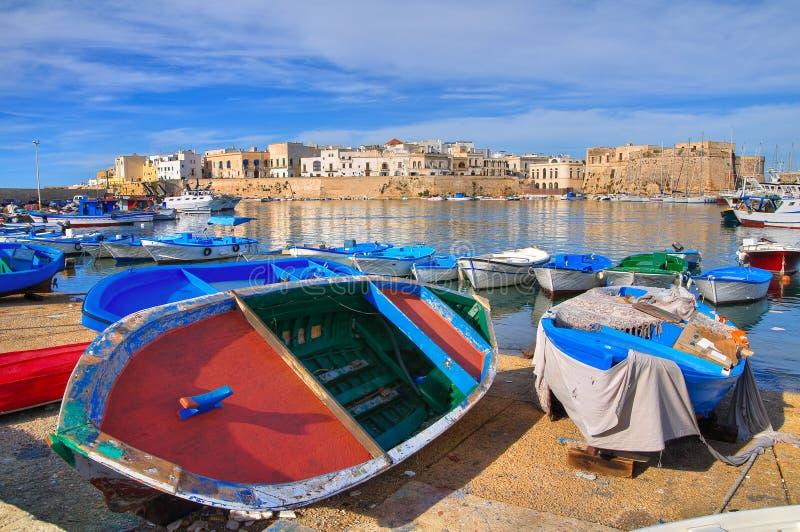 Vista panorâmica de Gallipoli. Puglia. Itália. foto de stock
