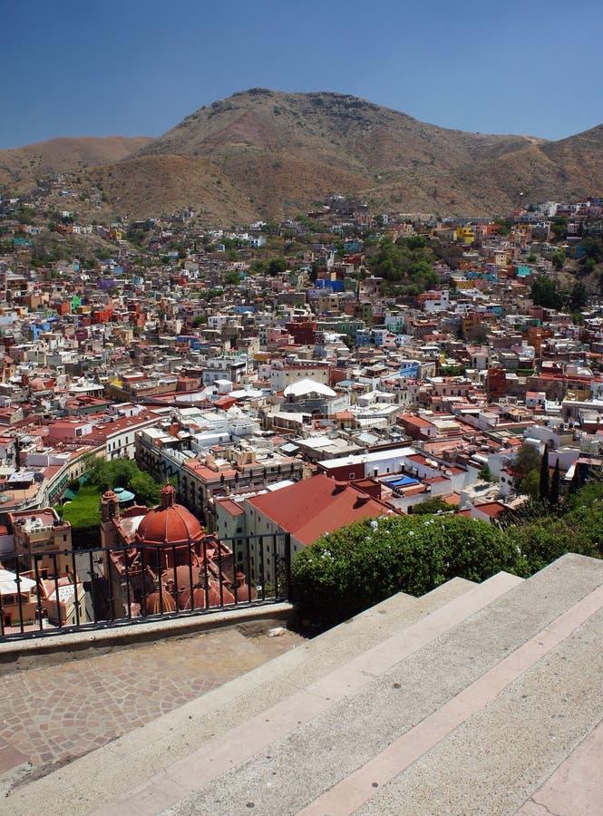 Vista panorâmica de Guanajuato, México foto de stock