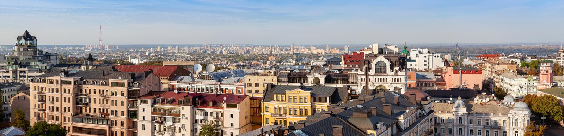 Vista panorâmica de Kiev, Ukaine foto de stock royalty free