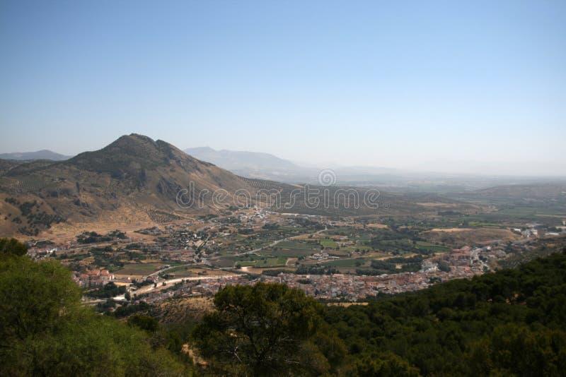 Vista panorâmica de Loja, Granada imagem de stock