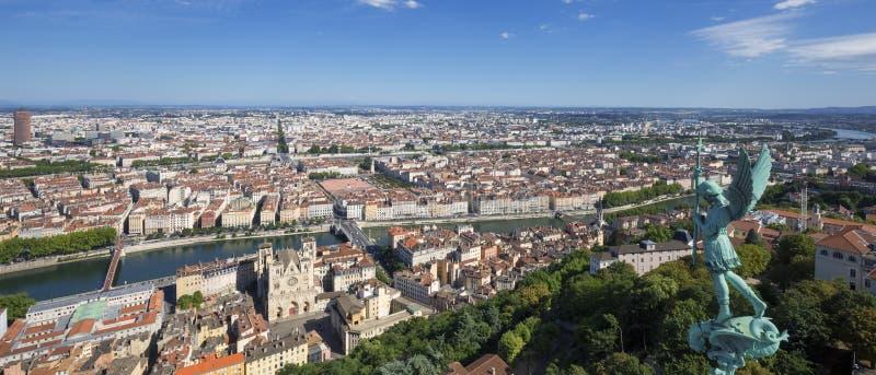 Vista panorâmica de Lyon foto de stock royalty free