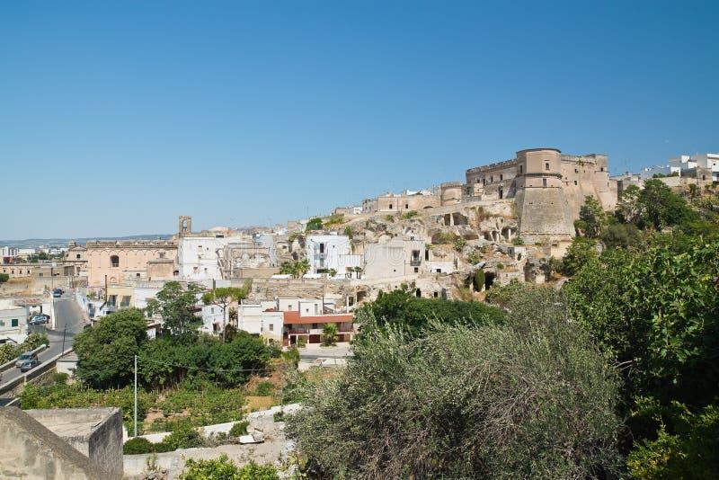 Vista panorâmica de Massafra Puglia Italy fotos de stock royalty free