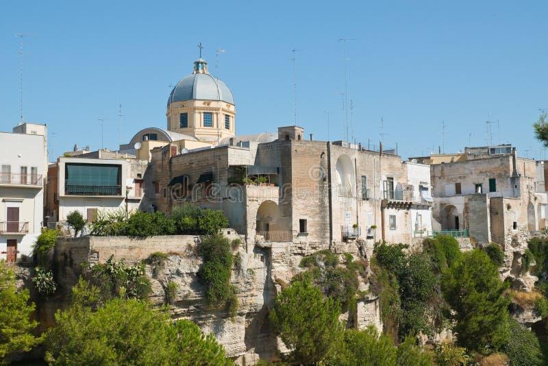 Vista panorâmica de Massafra Puglia Italy fotografia de stock royalty free