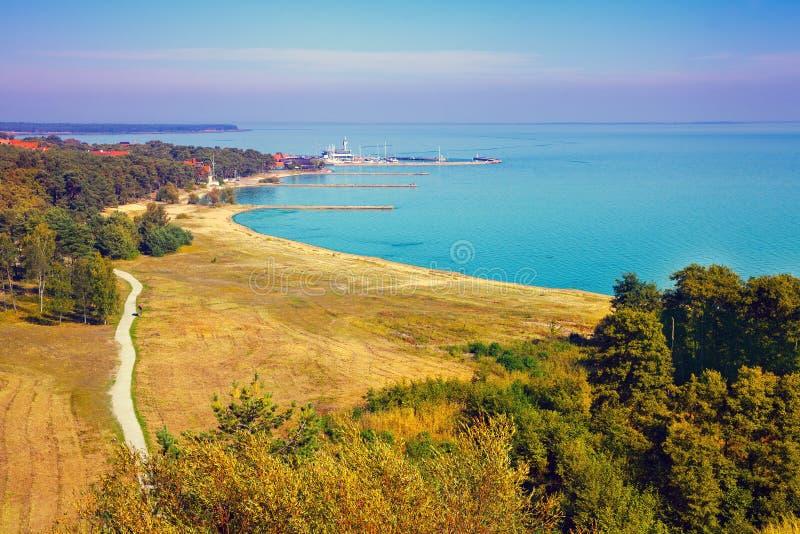 Vista panorâmica de Nida, Lituânia foto de stock royalty free