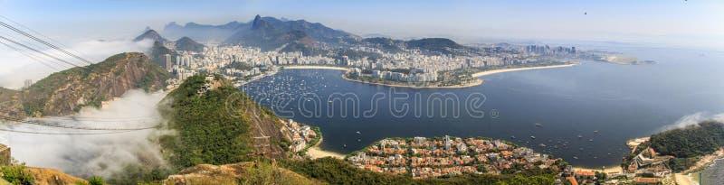 Vista panorâmica de Rio de janeiro do Sugarloaf, Rio de janeiro, Brasil fotografia de stock royalty free