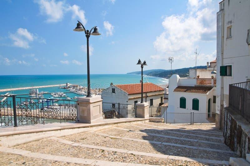 Vista panorâmica de Rodi Garganico. Puglia. Itália. imagem de stock royalty free