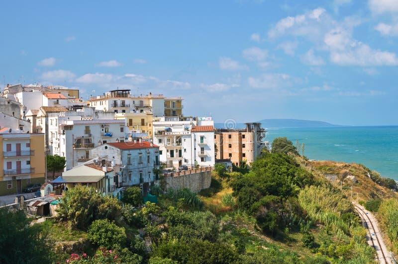 Vista panorâmica de Rodi Garganico. Puglia. Itália. foto de stock royalty free