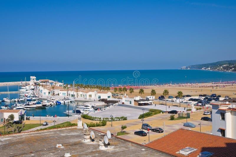 Vista panorâmica de Rodi Garganico. Puglia. Itália. fotos de stock royalty free
