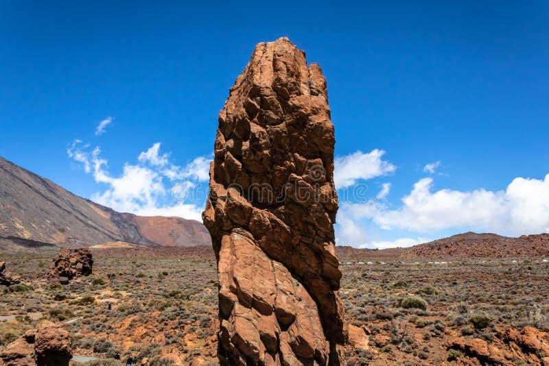 Vista panorâmica de Roques GarcÃa, Tenerife, parque nacional de Teide, Tenerife, Ilhas Canárias, Espanha - imagem imagens de stock