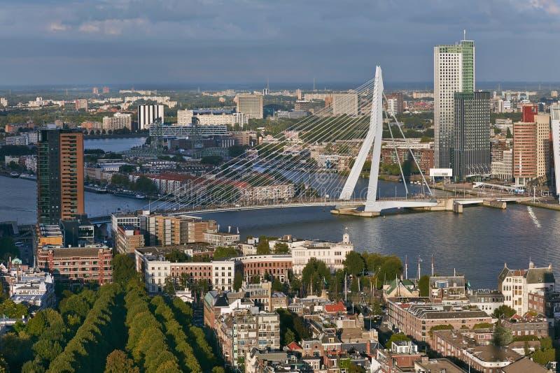 Vista panorâmica de Rotterdam imagens de stock