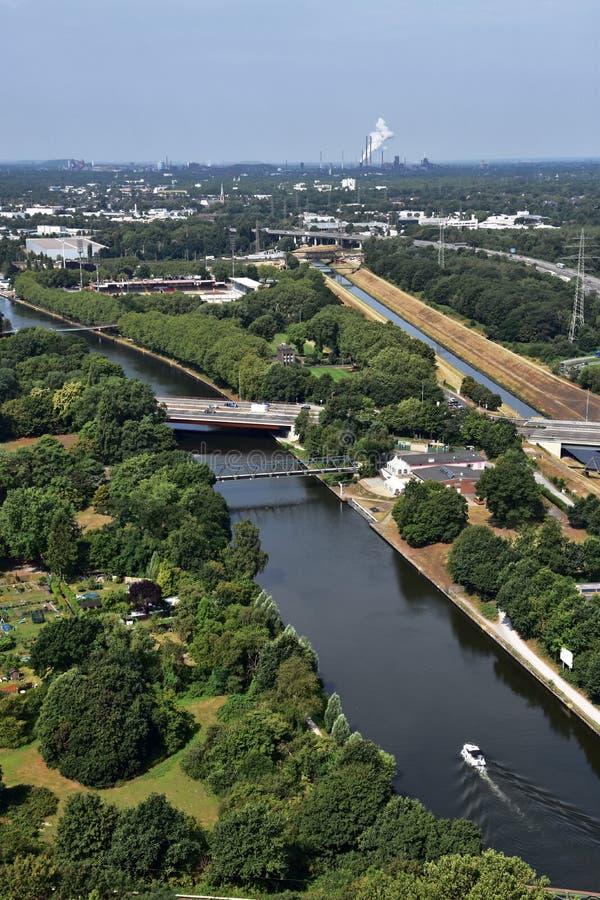 Vista panorâmica de Ruhr Valley, Alemanha fotografia de stock royalty free