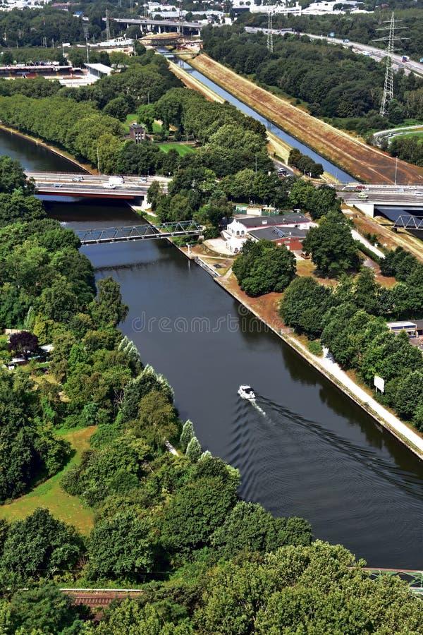 Vista panorâmica de Ruhr Valley, Alemanha imagens de stock royalty free
