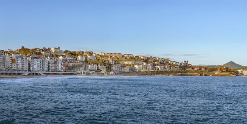 Vista panorâmica de San Sebastian, Espanha foto de stock royalty free