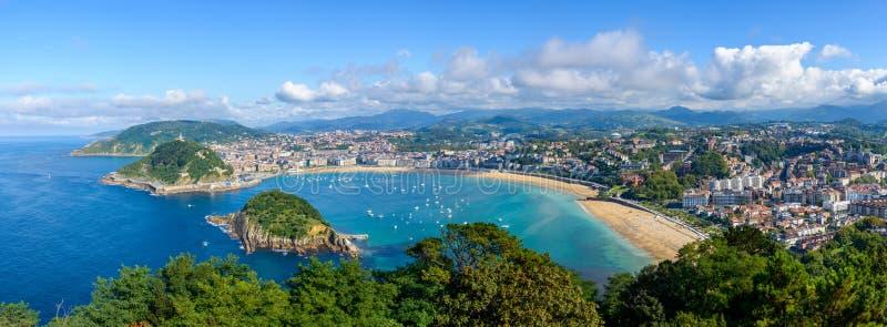Vista panorâmica de San Sebastian na Espanha foto de stock