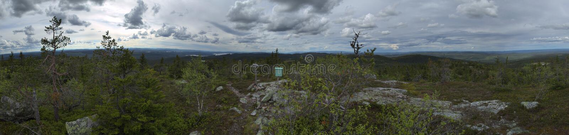 Vista panorâmica de Storvarden na reserva natural Tandoevala em Dalarna, Suécia fotos de stock royalty free