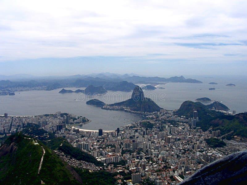 Vista panorâmica de Sugar Loaf em Rio de janeiro foto de stock royalty free