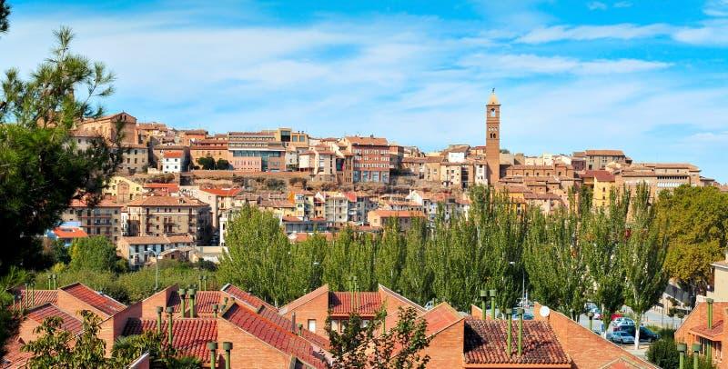 Vista panorâmica de Tarazona, na província de Zaragoza, Espanha foto de stock