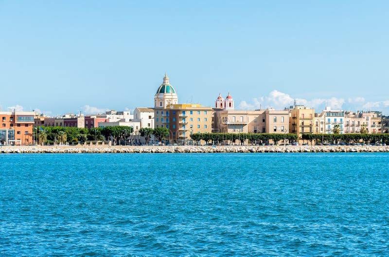 Vista panorâmica de Trapani, Sicília Italy imagens de stock royalty free