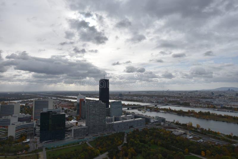 Vista panorâmica de Viena fotografia de stock