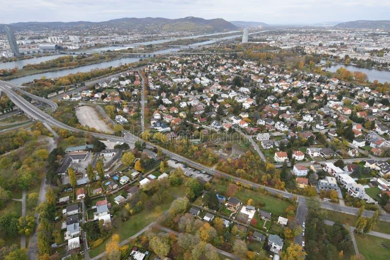 Vista panorâmica de Viena foto de stock