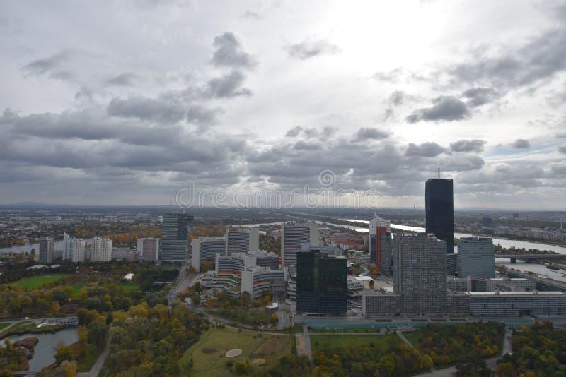 Vista panorâmica de Viena imagem de stock royalty free