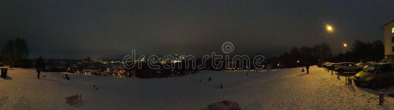 Vista panorâmica de Vilnius imagens de stock
