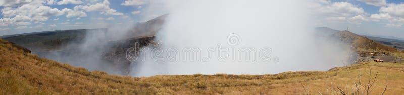 Vista panorâmica de Volcano Masaya fotos de stock