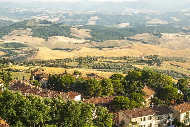 Vista panorâmica de Volterra (Toscânia) foto de stock