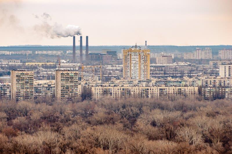 Vista panorâmica do banco esquerdo Kiev do parque da glória eterno fotos de stock royalty free