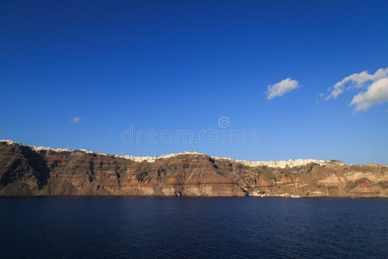 Vista panorâmica do Caldera em Santorini fotos de stock