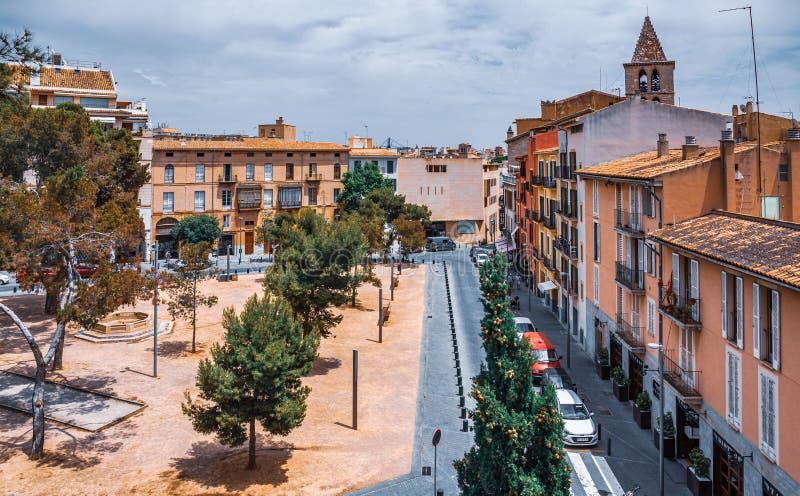 Vista Panorâmica do centro histórico de Palma de Maiorca fotos de stock royalty free
