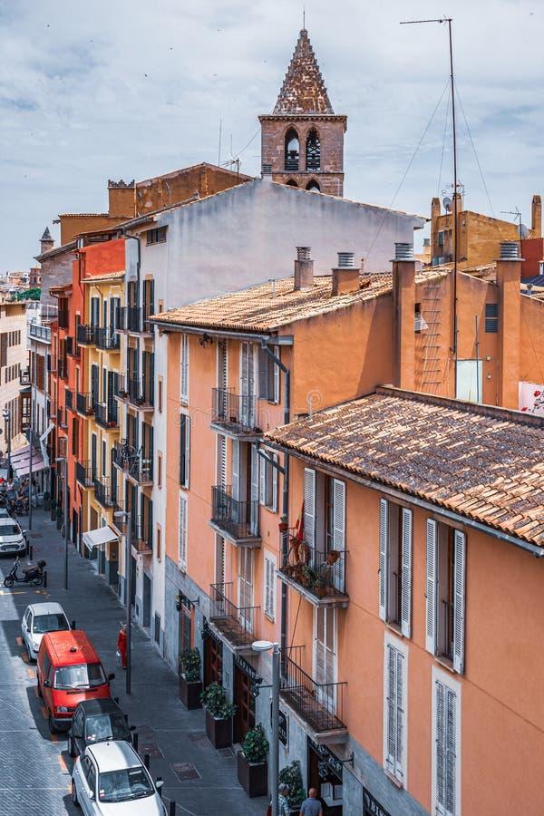 Vista Panorâmica do centro histórico de Palma de Maiorca fotos de stock