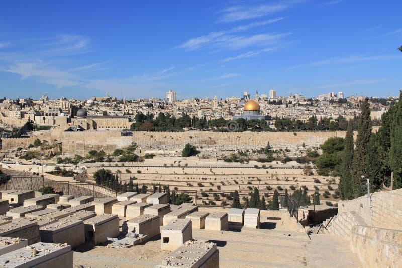 Vista panorâmica do Jerusalém e do Temple Mount fotografia de stock royalty free
