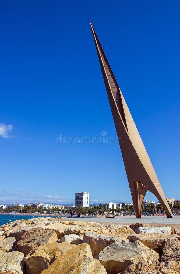 Vista panorâmica do litoral Salou, Espanha imagens de stock royalty free